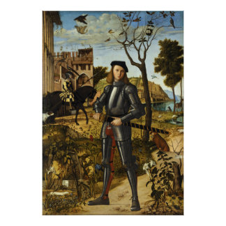 Portrait of a Knight by Vittore Carpaccio Poster