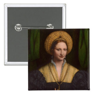 Portrait of a lady, 1520-1525 (oil on panel) 15 cm square badge