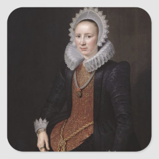 Portrait of a Lady aged 29, 1615 Square Sticker