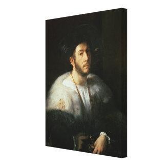 Portrait of a man, possibly Cesare Borgia (1476-15 Canvas Print