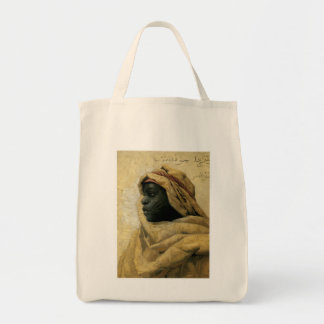 Portrait of a Nubian Grocery Tote Bag