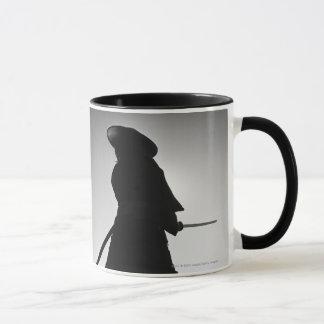 Portrait of a Samurai warrior holding a sword Mug
