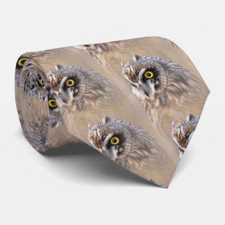 Portrait of a Short-Eared Owl Tie