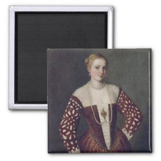 Portrait of a Woman Square Magnet