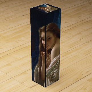 Portrait of a Young Woman by Pierre Auguste Cot Wine Bottle Box