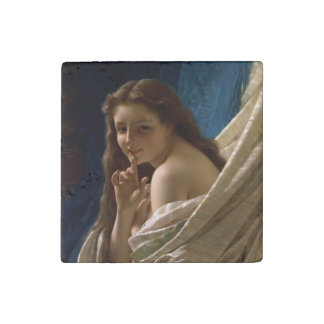 Portrait of a Young Woman by Pierre Auguste Cot Stone Magnet