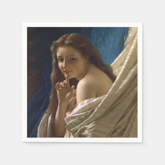Portrait of a Young Woman by Pierre Auguste Cot Disposable Napkins