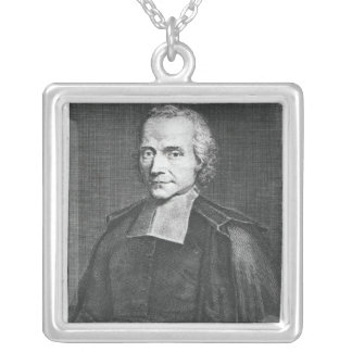 Portrait of Adrien Baillet Silver Plated Necklace