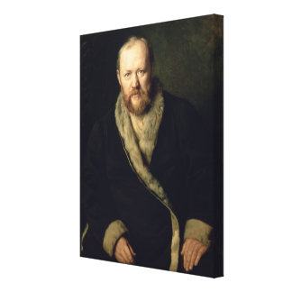 Portrait of Aleksandr Ostrovsky  1871 Canvas Print