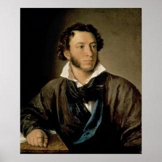 Portrait of Alexander Pushkin Poster