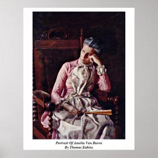 Portrait Of Amelia Van Buren By Thomas Eakins Poster