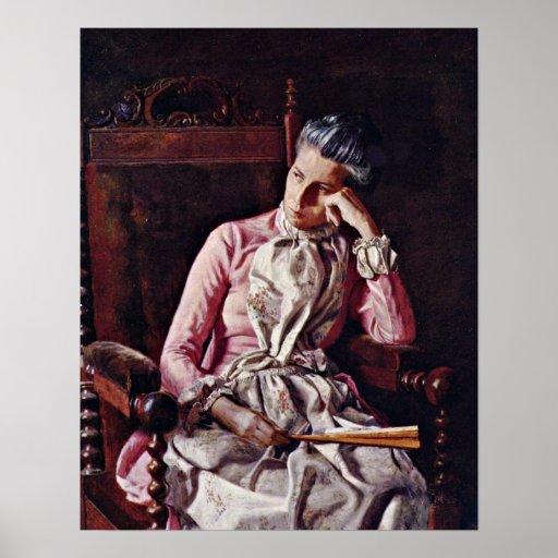 Portrait of Amelia Van Buren by Thomas Eakins Posters