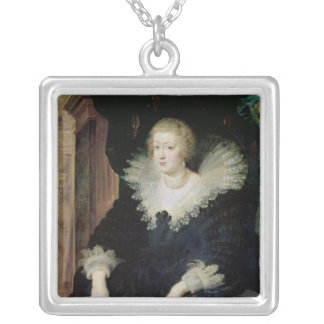 Portrait of Anne of Austria  c.1622 Silver Plated Necklace
