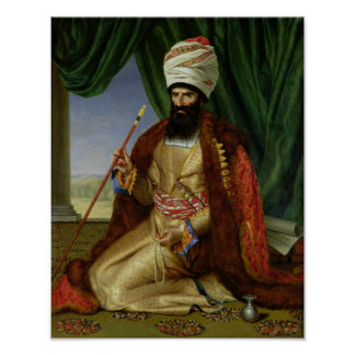 Portrait of Asker-Khan, Ambassador of Persia Poster