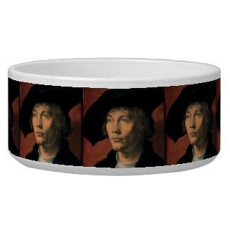 Portrait of Bernard von Reesen by Durer Dog Water Bowls