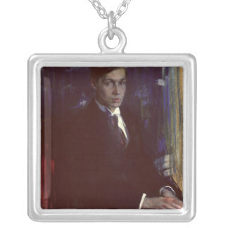 Portrait of Boris Pasternak Silver Plated Necklace