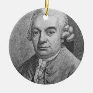 Portrait of Carl Philipp Emanuel Bach (1714-88) (e Christmas Ornament