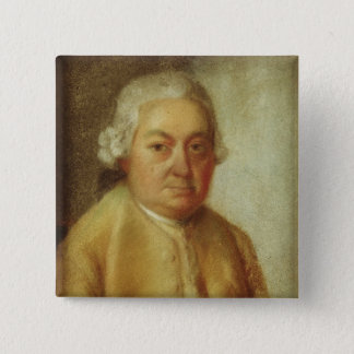 Portrait of Carl Philipp Emanuel Bach, c.1780 15 Cm Square Badge