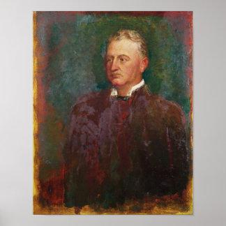 Portrait of Cecil John Rhodes  1898 Poster