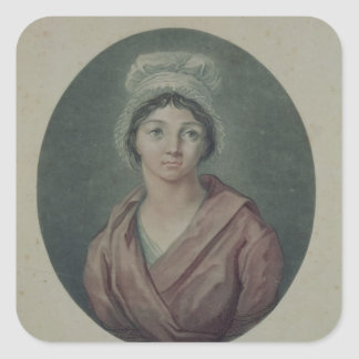 Portrait of Charlotte Corday  after 1793 Square Sticker