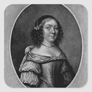 Portrait of Charlotte, Countess of Derby Square Sticker