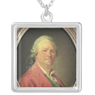 Portrait of Christoph Willibald von Gluck , 1777 Silver Plated Necklace