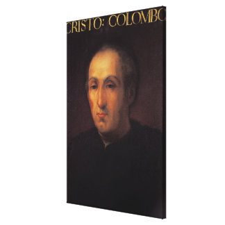 Portrait of Christopher Columbus Canvas Print