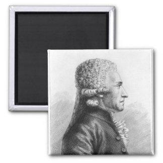 Portrait of Claude Valdec de Lessart Square Magnet