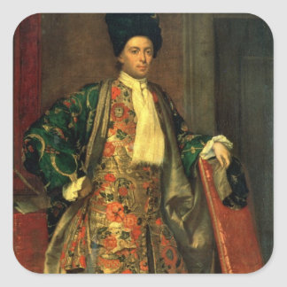 Portrait of Count Giovanni Battista Vailetti Square Sticker