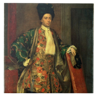 Portrait of Count Giovanni Battista Vailetti Tile