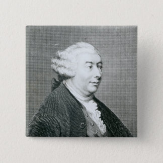 Portrait of David Hume 15 Cm Square Badge
