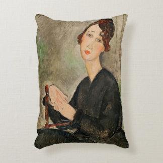 Portrait of Dedie Hayden, 1918 Decorative Cushion