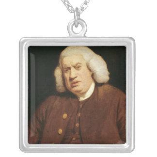 Portrait of Dr. Samuel Johnson Silver Plated Necklace