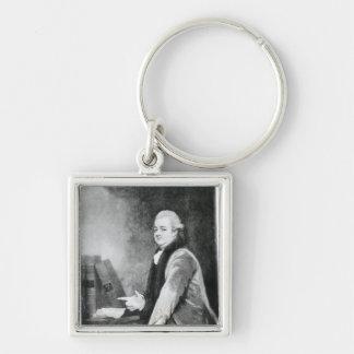 Portrait of Edward Gibbon Key Ring