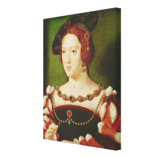 Portrait of Eleanor of Hapsbourg Canvas Print