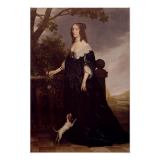 Portrait of Elizabeth, Queen of Bohemia Poster