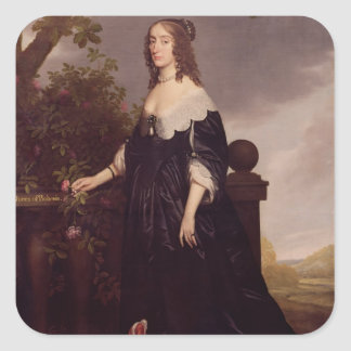 Portrait of Elizabeth, Queen of Bohemia Square Sticker
