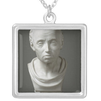 Portrait of Emmanuel Kant , 1801 Silver Plated Necklace