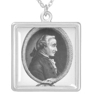 Portrait of Emmanuel Kant 2 Silver Plated Necklace