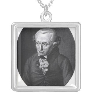 Portrait of Emmanuel Kant Silver Plated Necklace