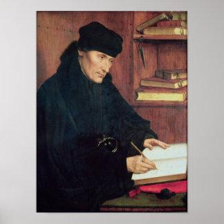 Portrait of Erasmus of Rotterdam Poster