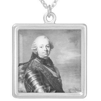 Portrait of Etienne-Francois, duke of Choiseul Silver Plated Necklace