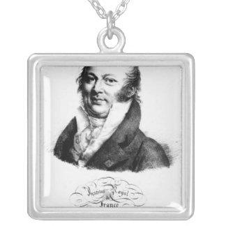 Portrait of Etienne Geoffroy Saint-Hilaire Silver Plated Necklace