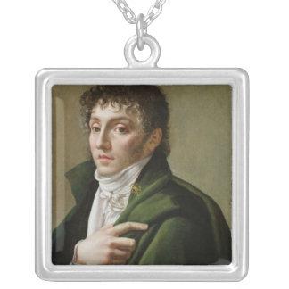 Portrait of Etienne-Henri Mehul  1799 Silver Plated Necklace