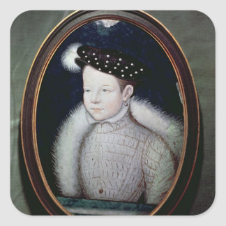 Portrait of Francis II  as Dauphin of France Square Sticker