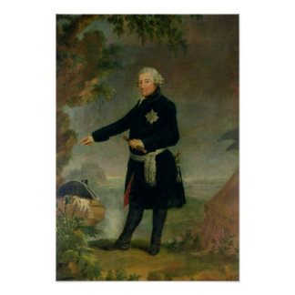 Portrait of Frederick II  the Great, 1772 Poster