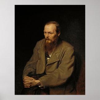 Portrait of Fyodor Dostoyevsky by Vasily Perov Poster