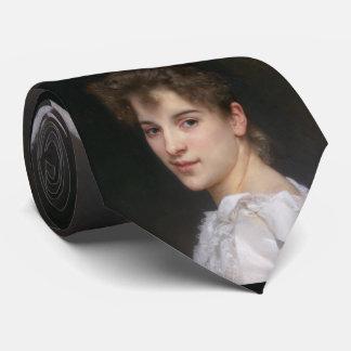 Portrait of Gabrielle Cot William Bouguereau Tie