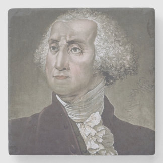 Portrait of George Washington, from 'Le Costume An Stone Coaster