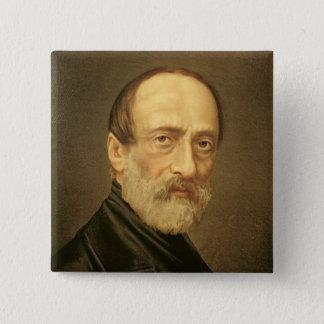 Portrait of Giuseppe Mazzini 15 Cm Square Badge